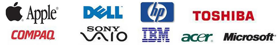 APPLE, DELL, IBM, TOSHIBA, MICROSOFT, SONY, COMPAQ, HP, ACER